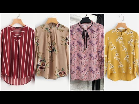 TOP 40 STYLISH CHIFFON SHIRTS AND BLOUSES DESIGNS FOR WORKING WOMENS 2019
