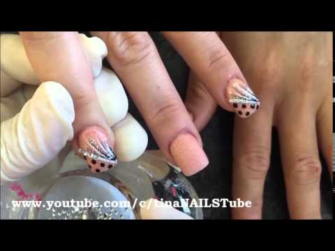 Glam Glits Sand Castle Nail Design Color Acrylic