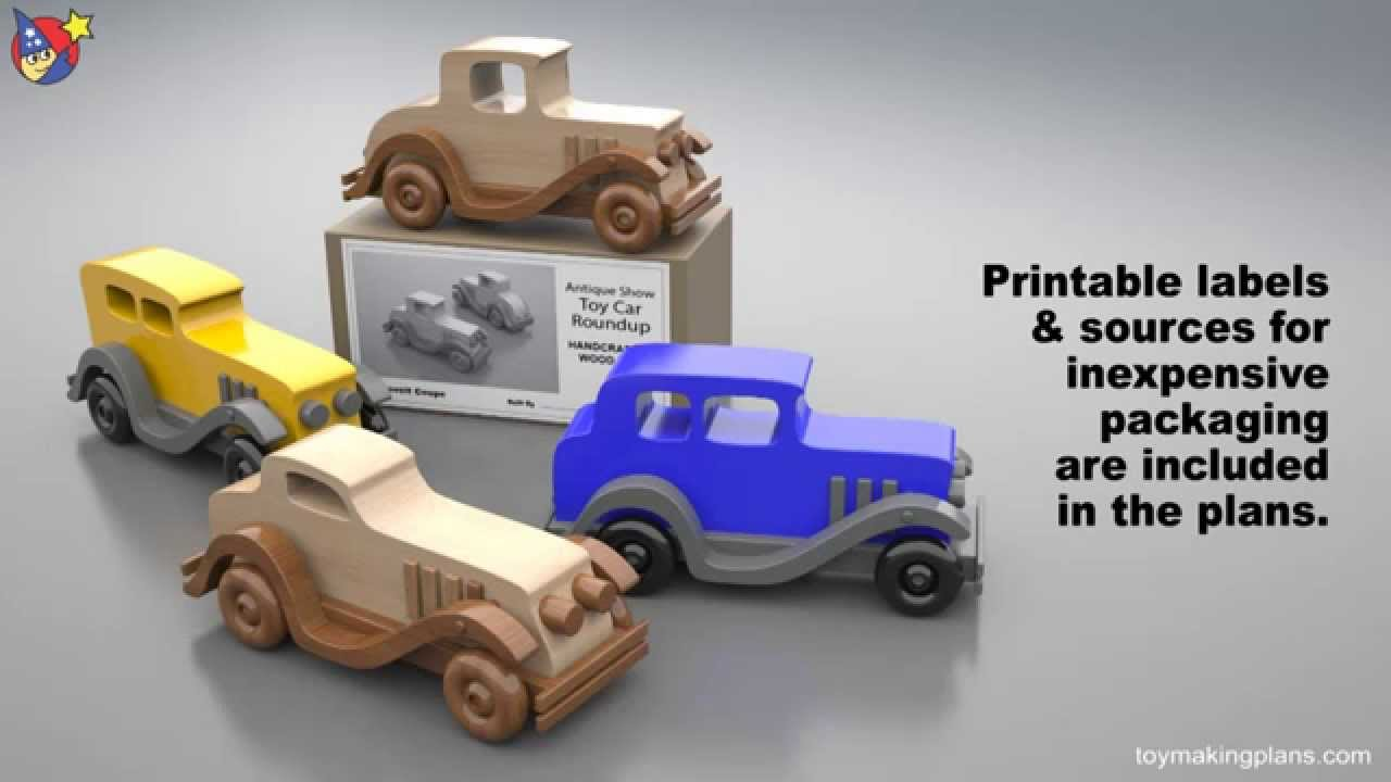 Wood Toy Plans - Antique Show Toy Car Roundup - YouTube