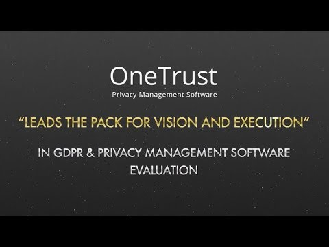 OneTrust is a leader in The Forrester New Wave™: GDPR and Privacy Management Software, Q4 2018: