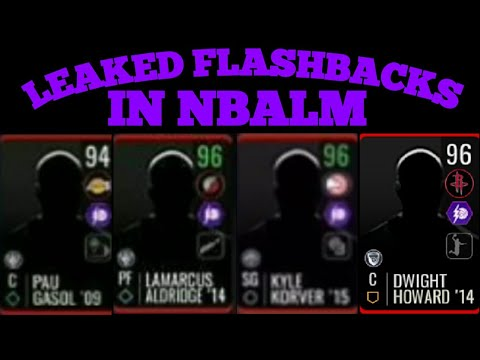 4 *LEAKED* FLASHBACKS PLAYERS IN NBA LIVE MOBILE