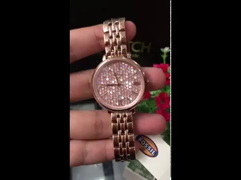 FOSSIL Jacqueline Rose Gold-tone Stainless Steel Ladies Watch ES3804