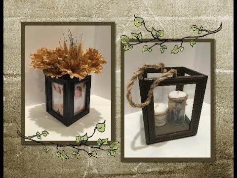 diy terrarium made from dollar tree frames