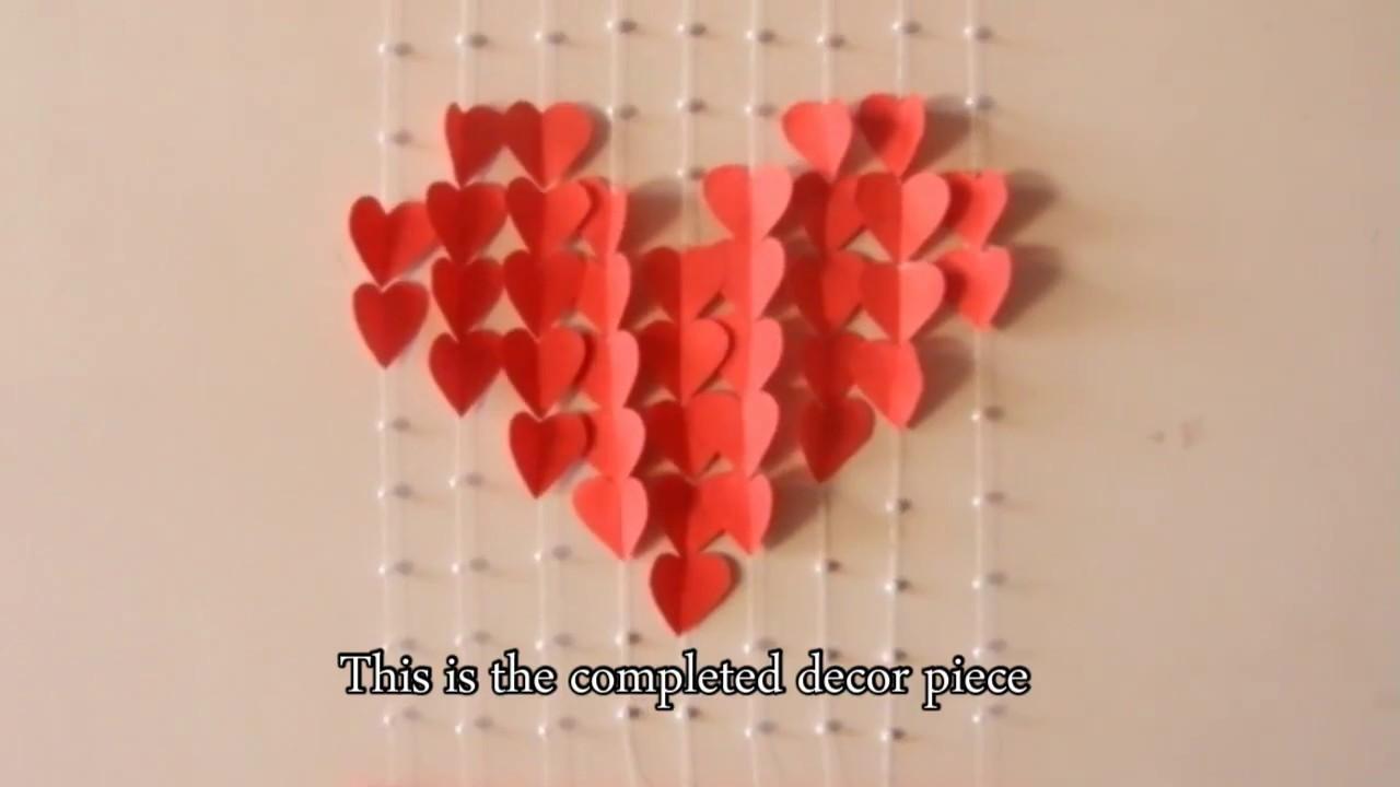 DIY wall decor piece / Valentine special / English subtitles - YouTube