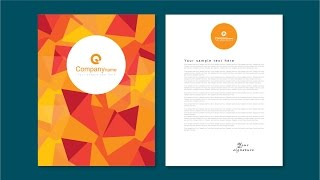 Illustrator tutorial - Letterhead design template
