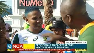 Springboks beat Japan to book World Cup semifinal spot