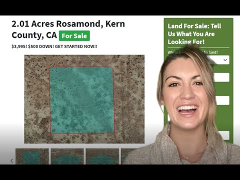 2.01 Acres Farms Lands For Sale Near Me In Rosamond Kern County, California