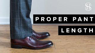 Proper Pant Length A Guide To Men s Pant Breaks