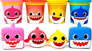 Pinkfong Baby Shark Music Box Toys & Play-doh Molds Learn Colors for Kids Nursery Rhymes