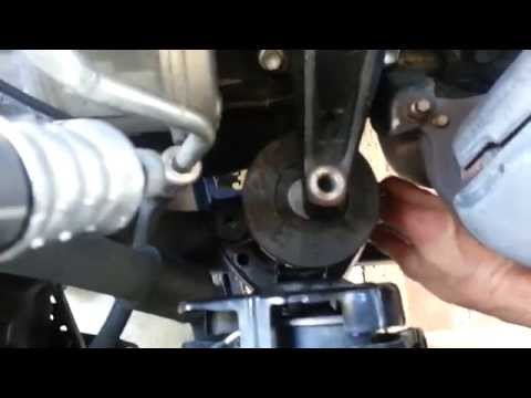 01 Toyota Camry engine mount installation