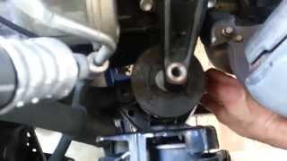 01 Toyota Camry engine mount installation