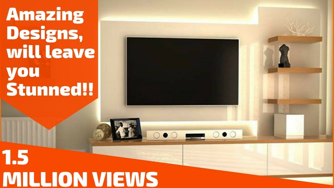 Amazing ways to design your TV Unit Plan n Design YouTube