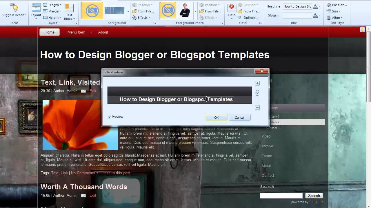 How to Design Blogger templates or Blogspot Templates with Artisteer ...