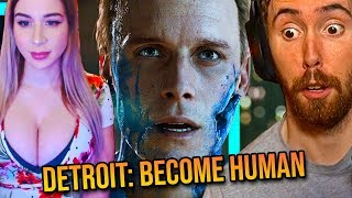 Asmongold & Pink Sparkles Play Detroit: Become Human - Highlights/Funniest Moments