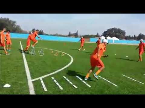 Une Partie de la formation des entraîneurs de football licence 'C' module 1
