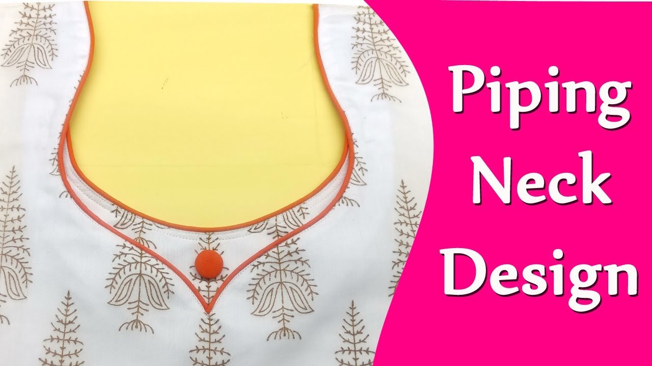 Piping Neck Design Diy Hindi Tutorial Youtube