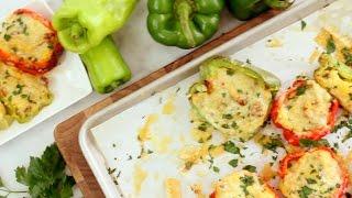 Recipe: Sun-Dried Tomato & Sausage Polenta Stuffed Peppers