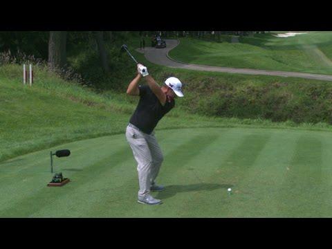 Ryan Moore's slo-mo swing is analyzed at John Deere