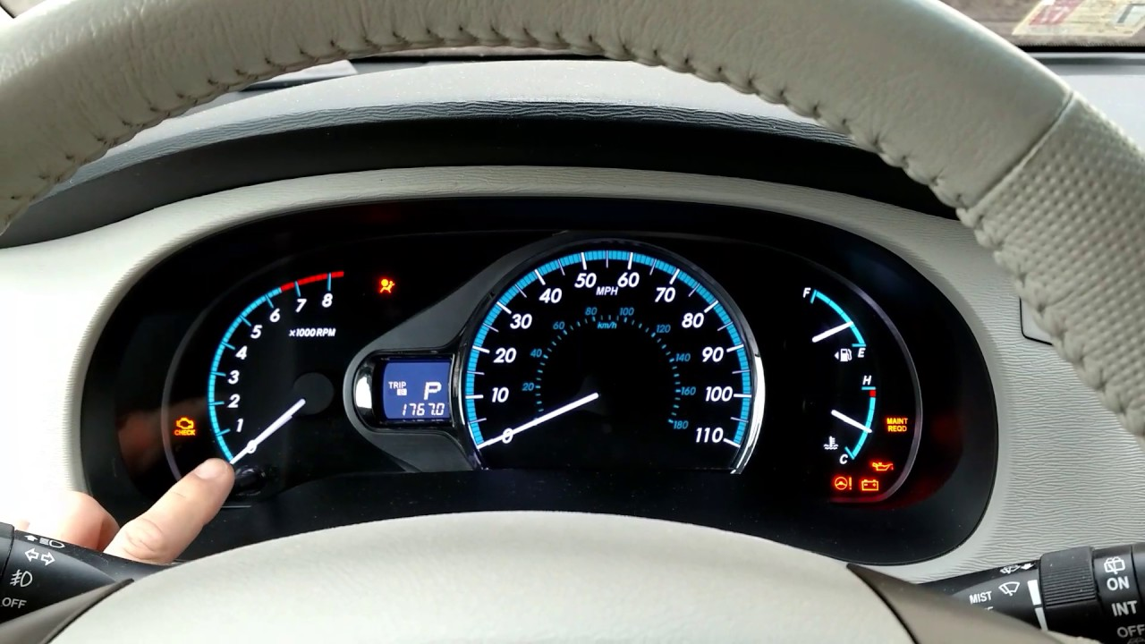 How To Reset A Maintenance Light On 2017 Sienna