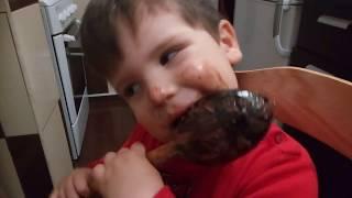 patricel papa ciocolata de casa cu lingura din lemn 2