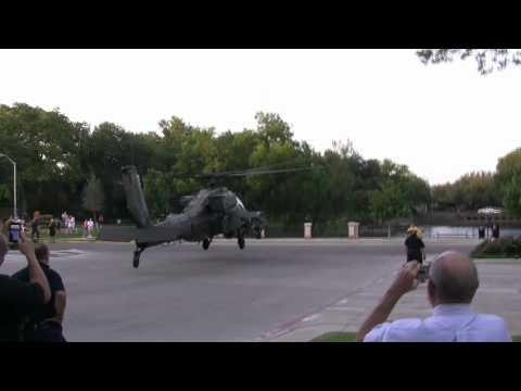 AH-64D Apache Longbow Helicopter Landing For Park Cities Fourth Of July Celebration