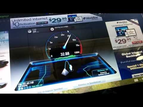 Bell Mobility 4G LTE Speedtest (Canada)