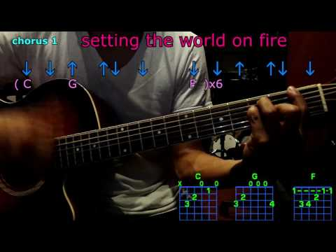 setting the world on fire kenny chesney guitar chords