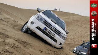 Stuck & Recovery in Desert: Pajero Sport and Fortuner's