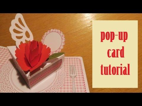 Papercraft pop-up card - carnation card - papercraft - tutorial - dutchpapergirl