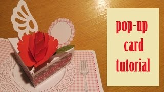 pop-up card - carnation card - papercraft - tutorial - dutchpapergirl