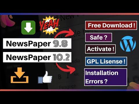 NewsPaper 10 & 9 Theme Free Download | NewsPaper 10 WordPress Theme GPL License Free Download