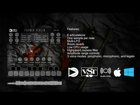 French Violin FREE VST/AU plugin for Windows and macOS