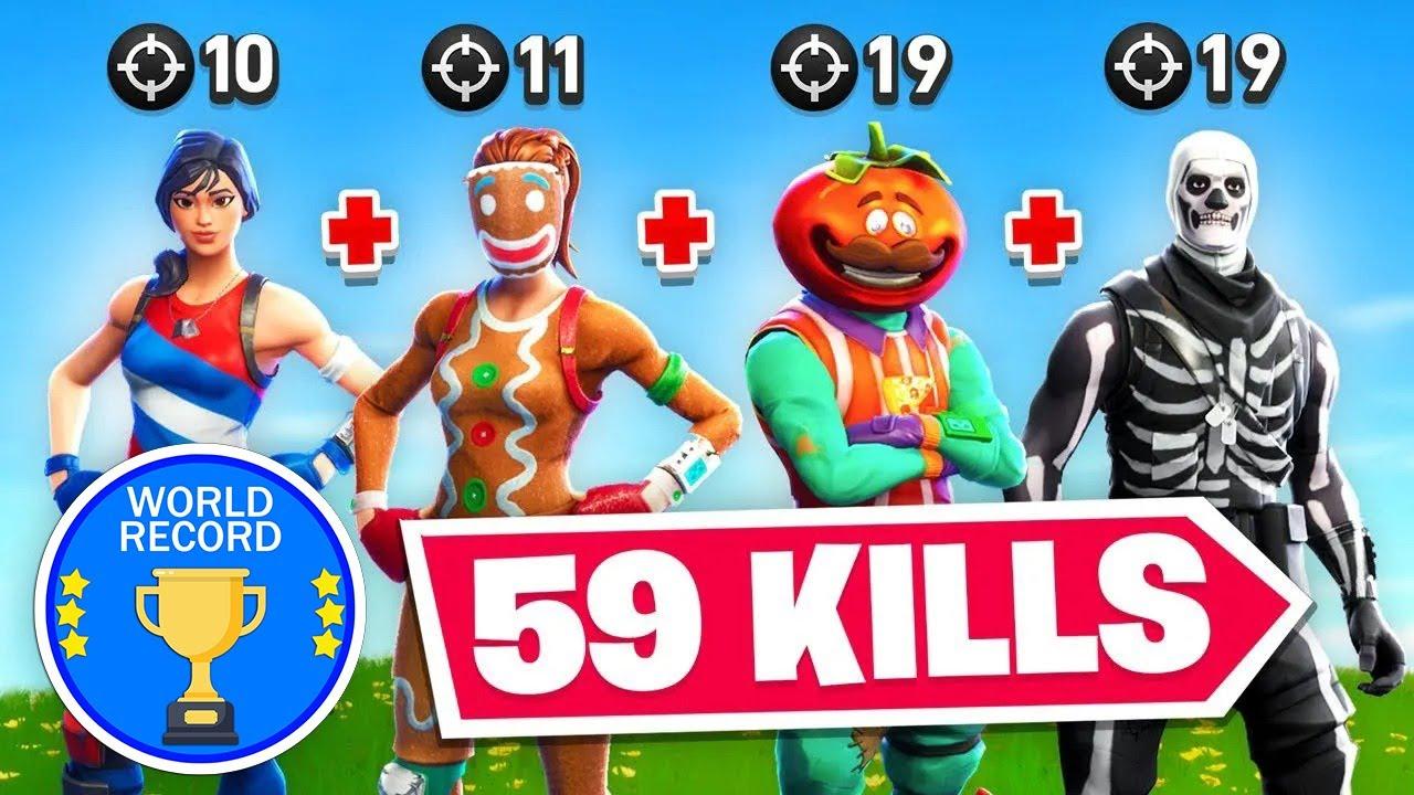 We Got The Fortnite Kill *WORLD* Record (59 Kills)
