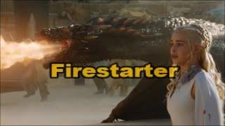 Game of Thrones , Daenerys Targaryen  -Firestarter music video