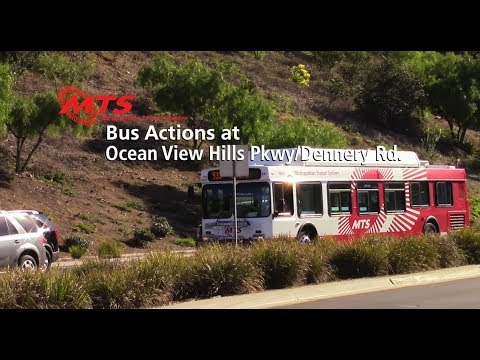MTS Bus Actions at Ocean View Hills Pkwy/Dennery Rd