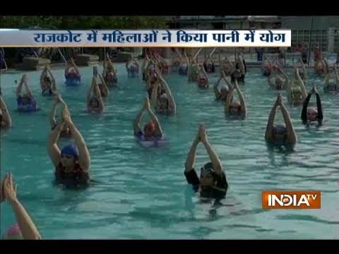 1000 Women In Gujarat Practice Water Yoga to Set A World Record On International Yoga Day