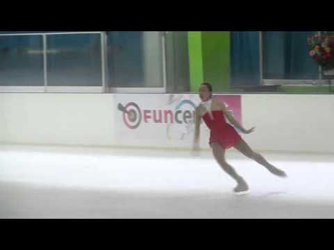 Brooklee Han, who skates for Australia, competes at a recent Junior Grand Prix event in Mexico. She skated a similar program at Nebelhorn.