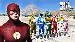 Video FLASH VS POWER RANGERS EPIC BATTLE GTA 5 MOD download MP3, 3GP, MP4, WEBM, AVI, FLV Oktober 2018