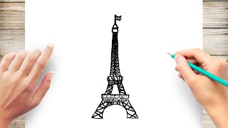 How to Draw the Eiffel Tower Step by Step Easy for Kids