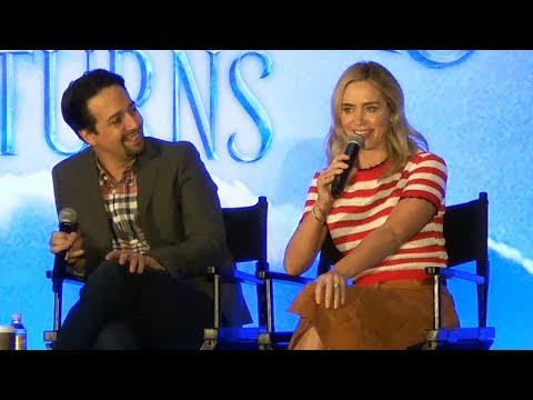 Mary Poppins Returns Full Press Conference with Emily Blunt, Lin-Manuel Miranda, Ben Whishaw +