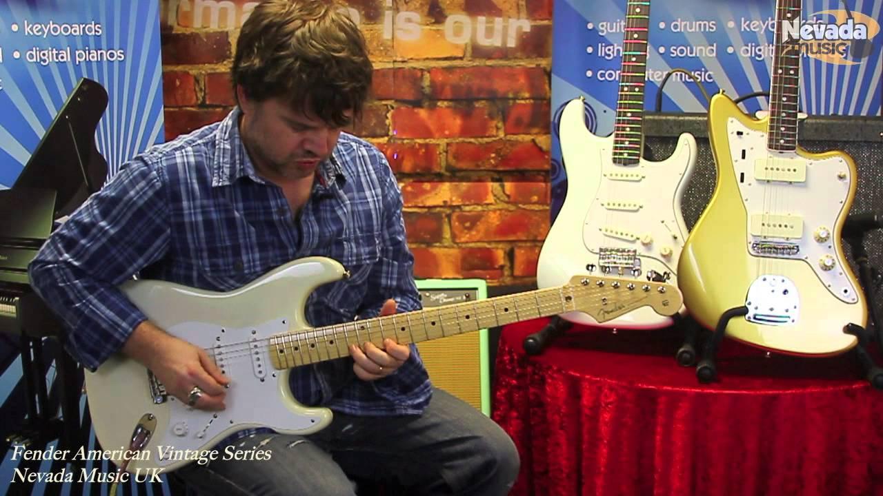 Fender Stratocaster Neck >> Fender American Vintage '56 Stratocaster Aged White - Damon and Groover @ Nevada Music UK - YouTube