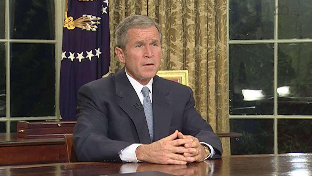 september 11, 2001 terror attack being addressed by george bush. The related proclamations of september 11 and september 14 honoring the victims of the incidents on tuesday, september 11, 2001, are listed in appendix d at the end of this volume citation: george w bush: address to the nation on the terrorist attacks, september 11, 2001.