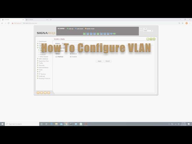 How to Configure VLAN on Signamax C-300 series Switch