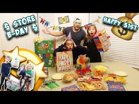 WE THROW JESSE A $ DOLLAR STORE $ BIRTHDAY PARTY!!