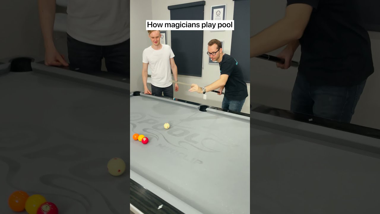 How Magicians Play Pool #Shorts