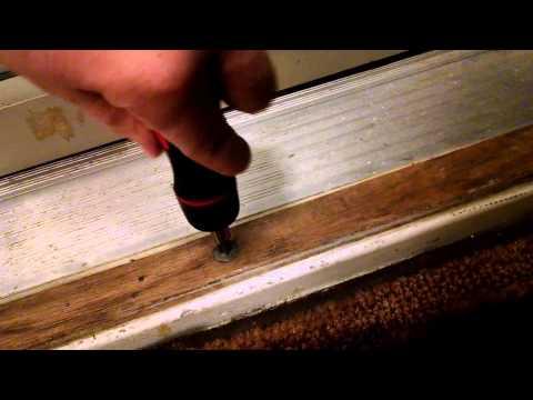 How to adjust entry door threshold yourself.