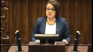 Anna Zalewska - wystąpienie z 10 stycznia 2014 r.