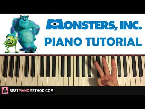 HOW TO PLAY - MONSTERS INC. Theme (Piano Tutorial Lesson)
