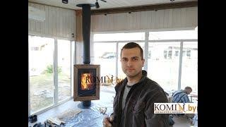 Печь Nordica Carillon c поворотным механизмом: полный обзор горения и работы печи.