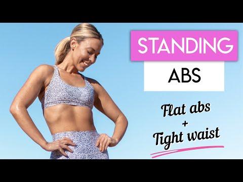 STANDING PILATES ABS WORKOUT �� Flat Abs + Tight Waist Workout
